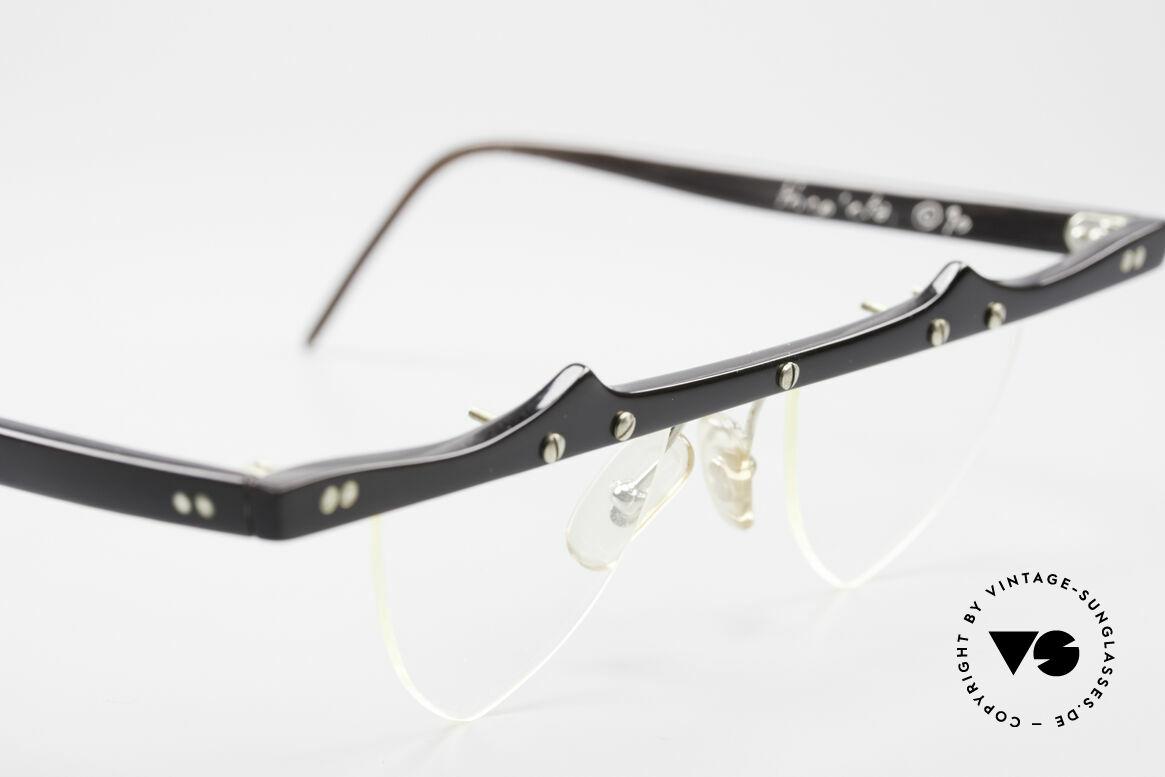 Theo Belgium Eta 90er Herzbrille Büffelhorn XL, ungetragenes Theo-Einzelstück für die, die sich trauen ;), Passend für Damen