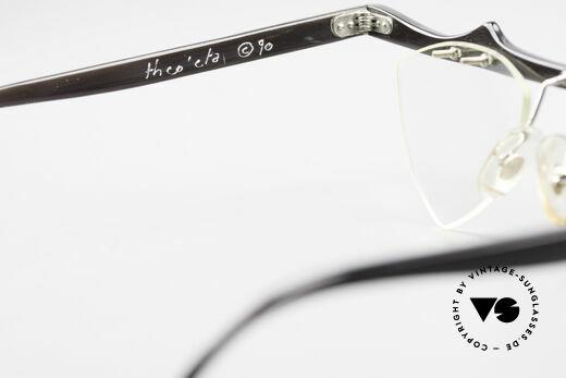 Theo Belgium Eta 90er Herzbrille Büffelhorn XL, die zauberhaften Demos können natürlich ersetzt werden, Passend für Damen