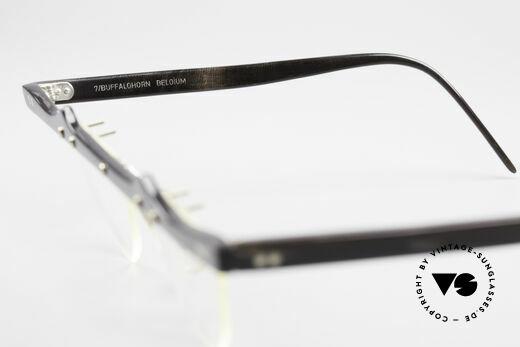 Theo Belgium Eta 90er Herzbrille Büffelhorn XL, Größe: extra large, Passend für Damen