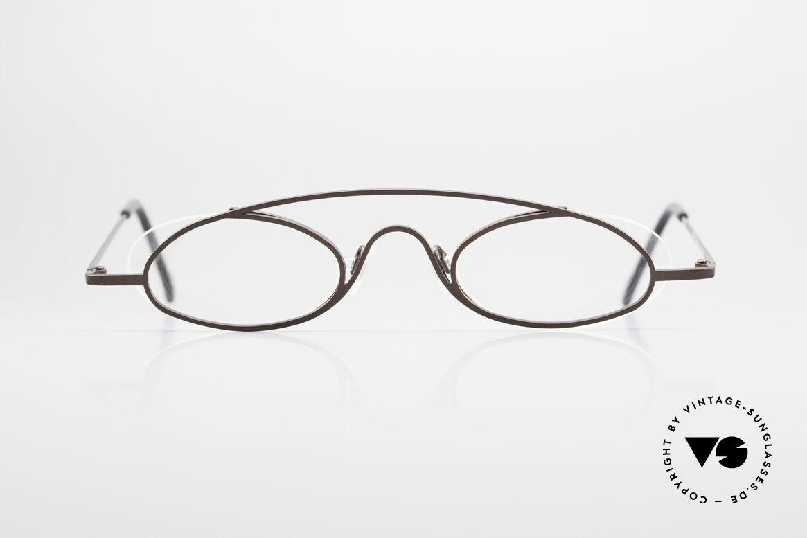 """Theo Belgium Hababa Randlose Vollrand Brille Oval, originelles Modell: """"vollrand"""" & """"randlos"""" zugleich, Passend für Herren und Damen"""