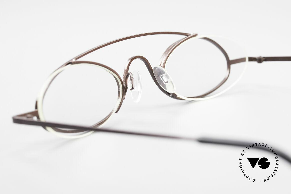 """Theo Belgium Hababa Randlose Vollrand Brille Oval, ungetragen; wie alle unsere THEO """"Charakter-Brillen"""", Passend für Herren und Damen"""