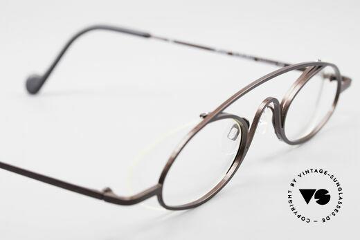 Theo Belgium Hababa Randlose Vollrand Brille Oval, Demogläser konnen natürlich beliebig ersetzt werden, Passend für Herren und Damen