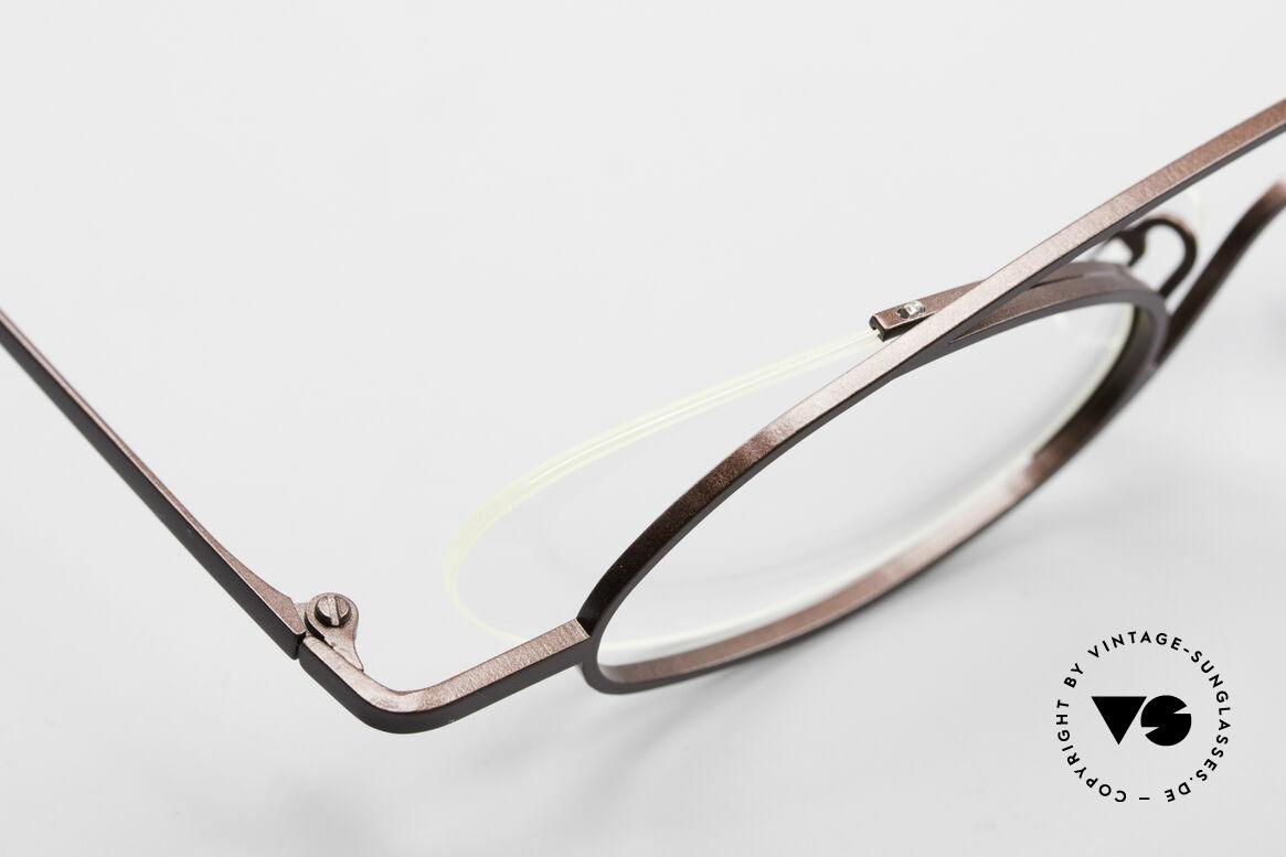 Theo Belgium Hababa Randlose Vollrand Brille Oval, Größe: medium, Passend für Herren und Damen