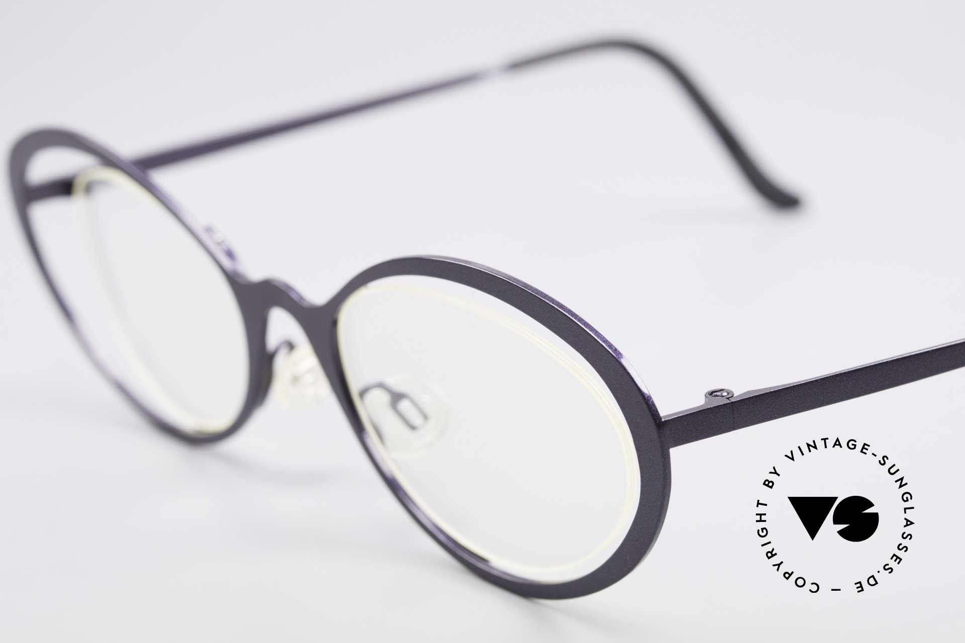 """Theo Belgium LuLu Randlose Cateye Brille 90er, außergewöhnliches Designerstück im """"Cat's Eye""""-Stil, Passend für Damen"""