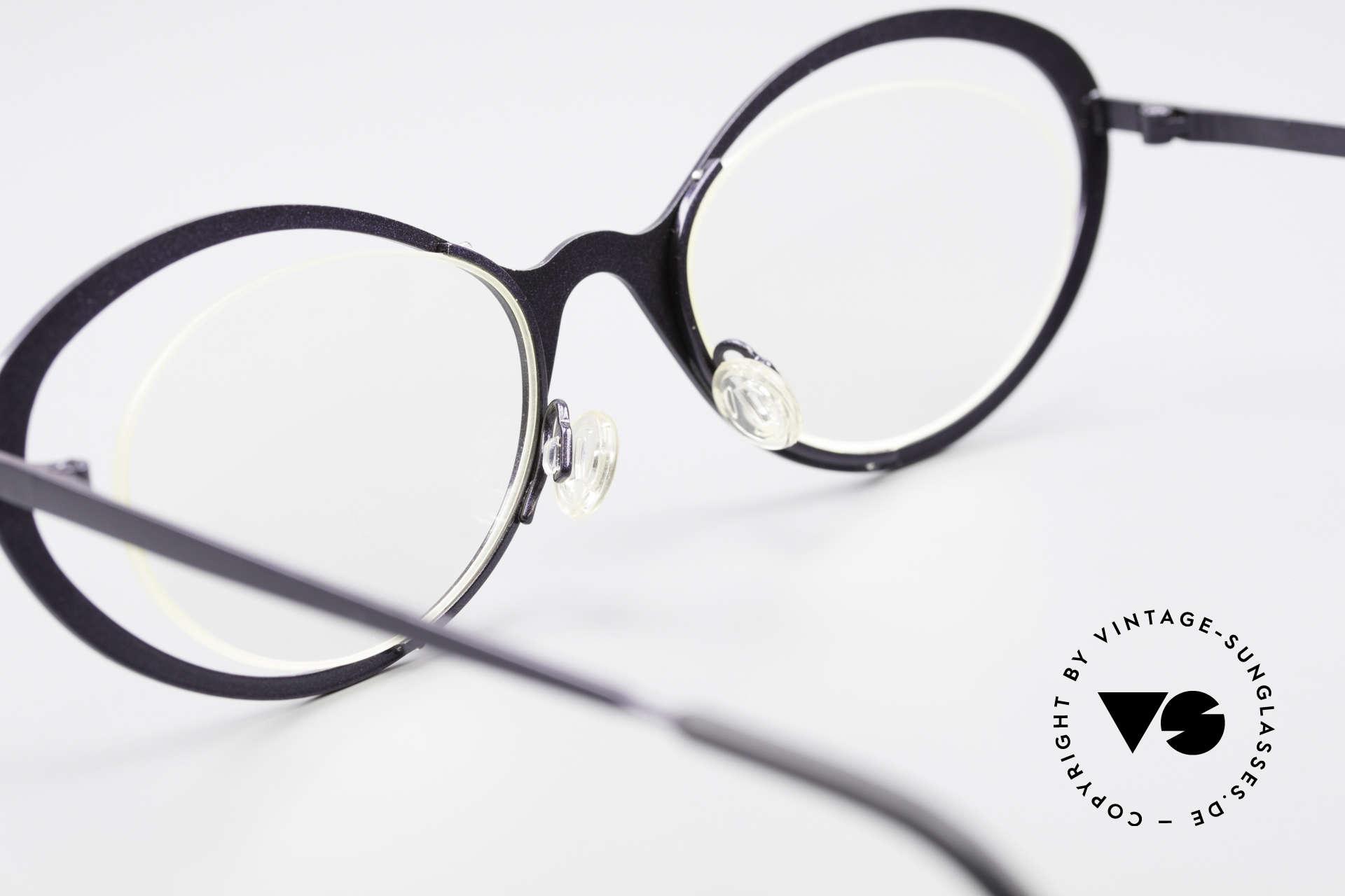 Theo Belgium LuLu Randlose Cateye Brille 90er, Demogläser konnen natürlich beliebig ersetzt werden, Passend für Damen