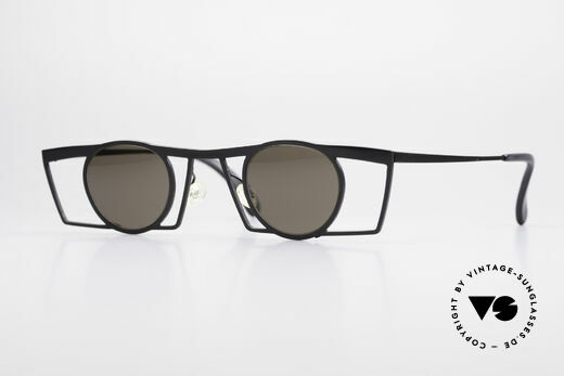 Theo Belgium Jupiter Eckige Designer Sonnenbrille Details