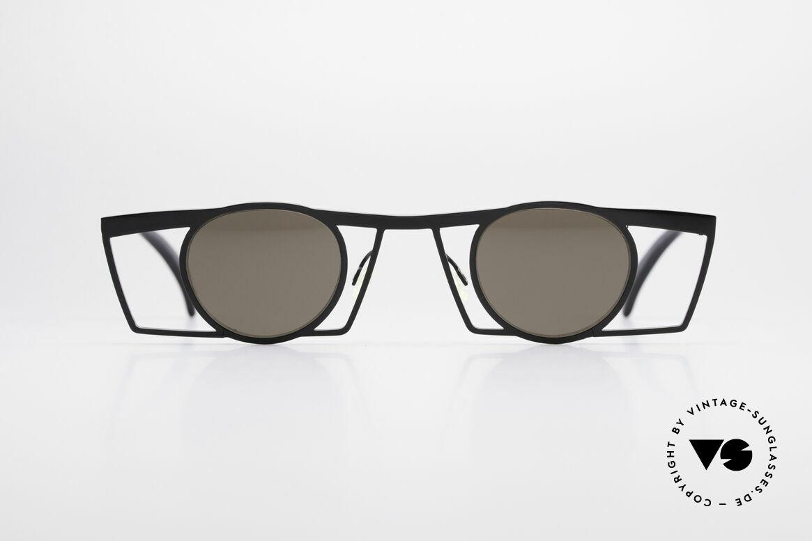 Theo Belgium Jupiter Eckige Designer Sonnenbrille, 1989 gegründet als GEGENPOL zum üblich 'Mainstream', Passend für Herren und Damen