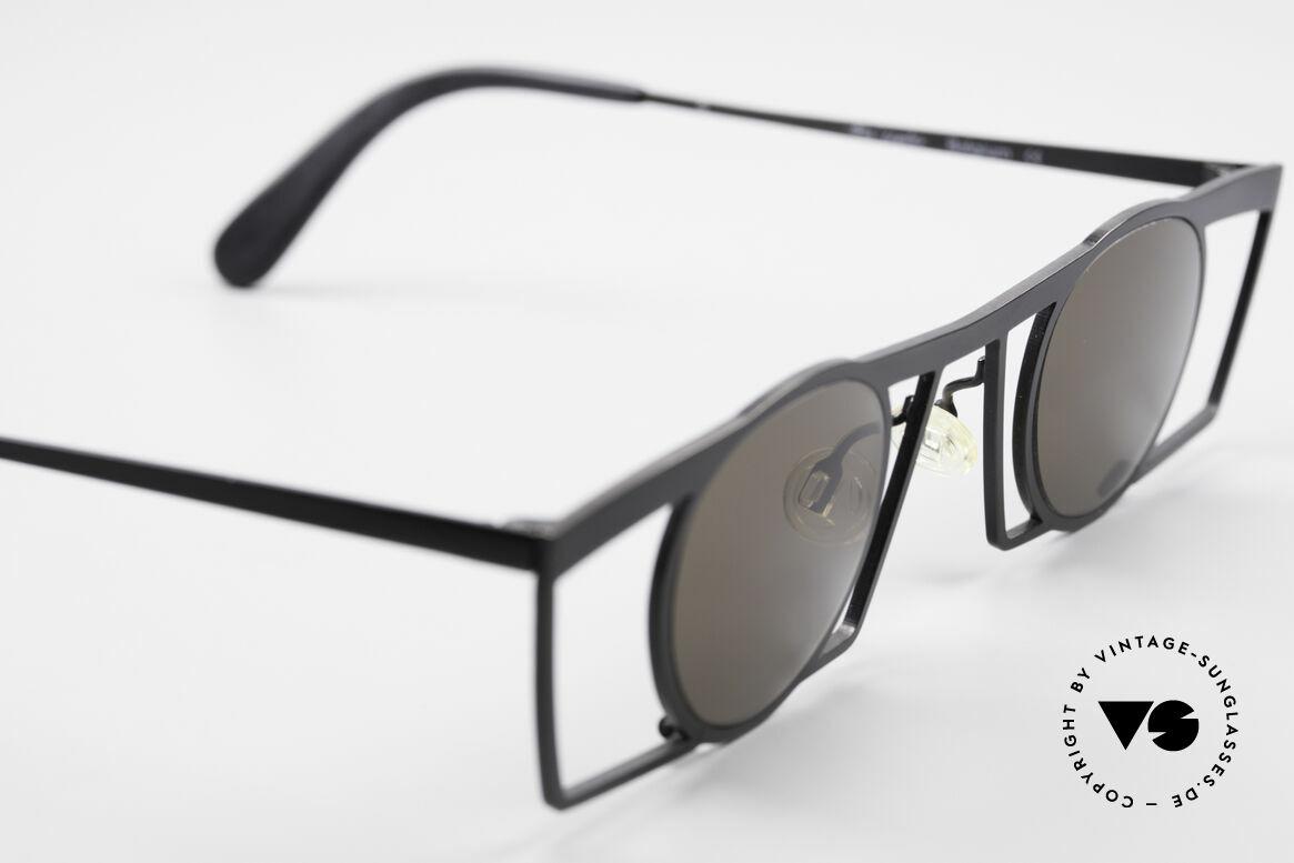 Theo Belgium Jupiter Eckige Designer Sonnenbrille, ungetragenes Theo-Einzelstück für die, die sich trauen!, Passend für Herren und Damen