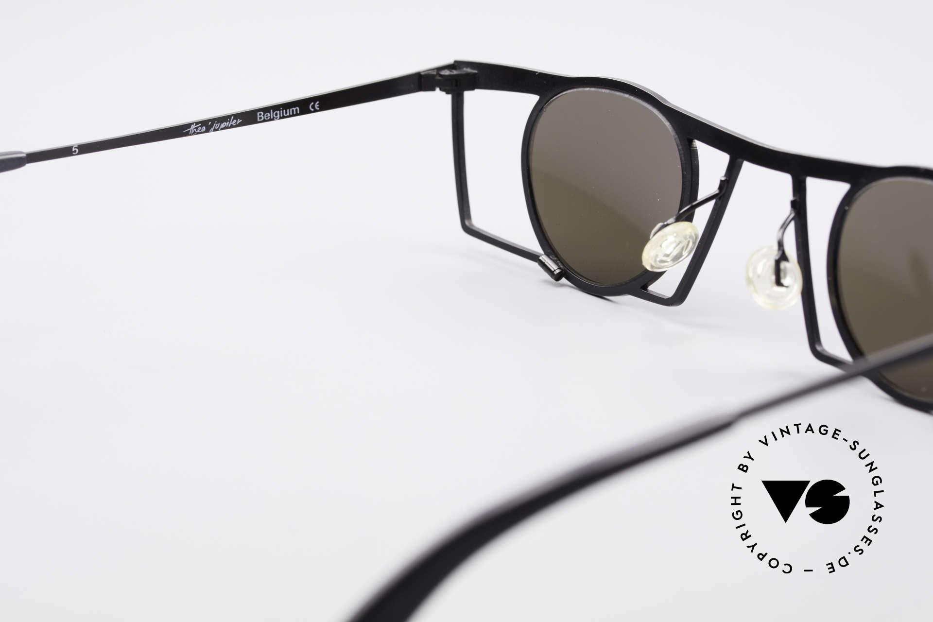 Theo Belgium Jupiter Eckige Designer Sonnenbrille, sozusagen: VINTAGE Sonnenbrille mit Symbol-Charakter, Passend für Herren und Damen