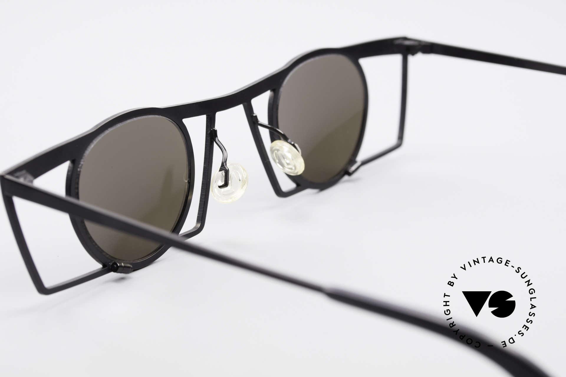 Theo Belgium Jupiter Eckige Designer Sonnenbrille, Größe: medium, Passend für Herren und Damen