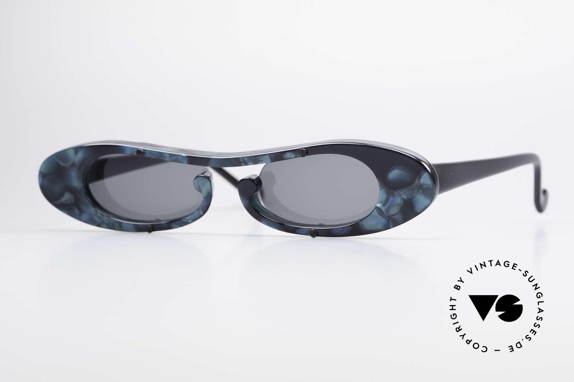 Theo Belgium Rage Avantgarde Sonnenbrille 90er, Theo Belgium: die eigenwilligste Brillenmarke, weltweit, Passend für Damen
