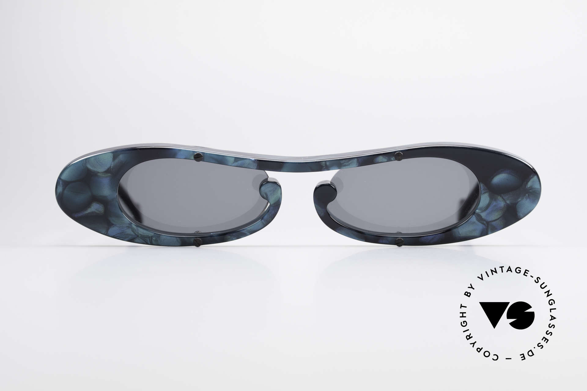 Theo Belgium Rage Avantgarde Sonnenbrille 90er, 1989 gegründet als GEGENPOL zum üblich 'Mainstream', Passend für Damen