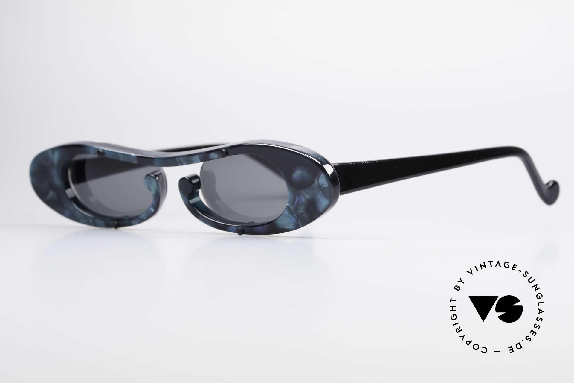 Theo Belgium Rage Avantgarde Sonnenbrille 90er, damals gemacht für die 'Avantgarde' und Individualisten, Passend für Damen