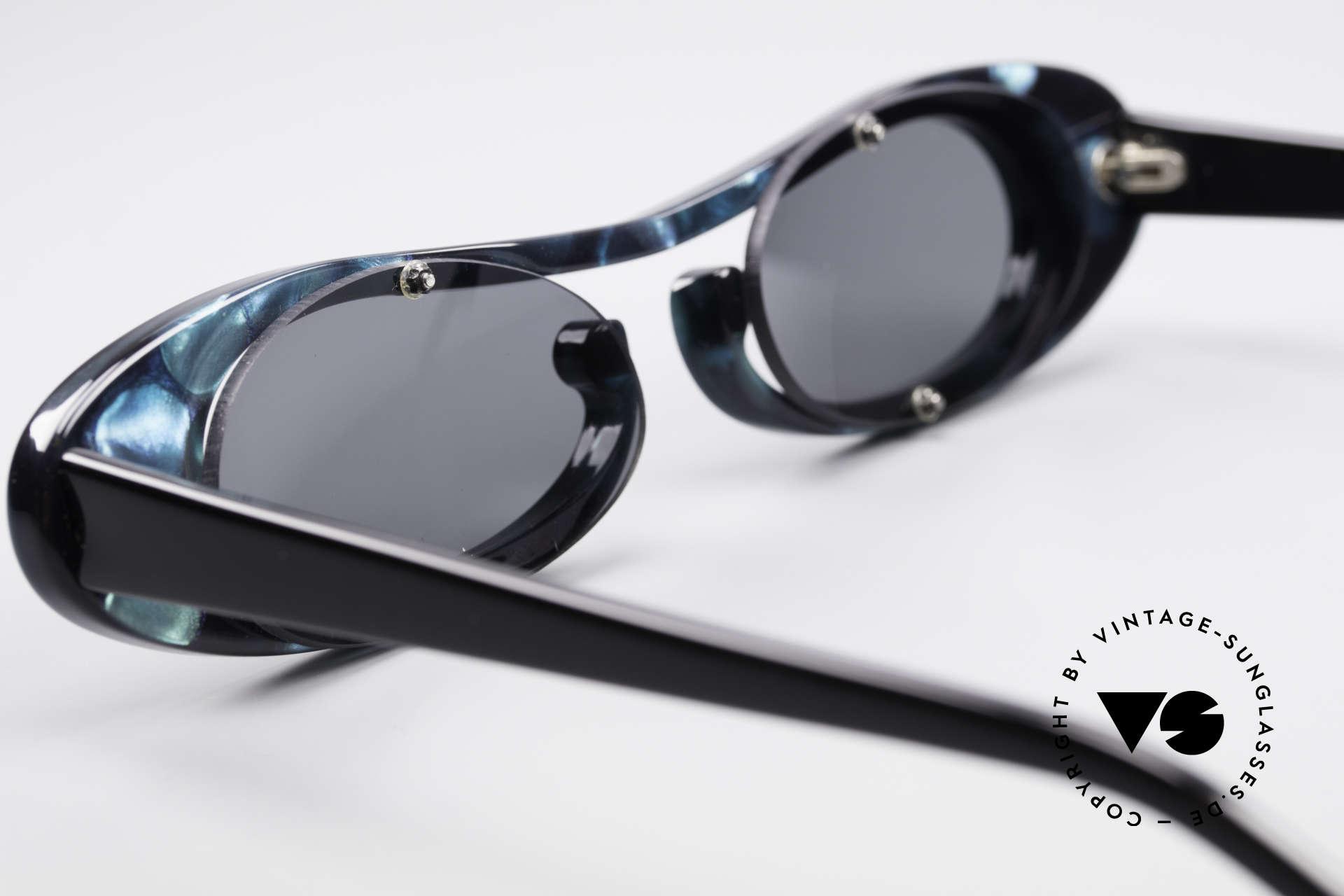 Theo Belgium Rage Avantgarde Sonnenbrille 90er, Größe: large, Passend für Damen