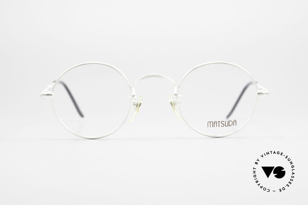 Matsuda 2872 90er Designer Brille Rund, allerhöchstes Fertigungsniveau sämtlicher Rahmenteile, Passend für Herren und Damen