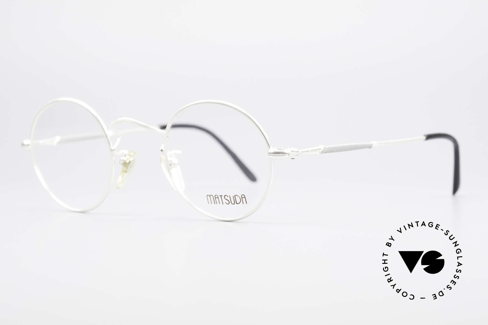 Matsuda 2872 90er Designer Brille Rund, verkörpert Lifestyle & Qualitätsanspruch gleichermaßen, Passend für Herren und Damen