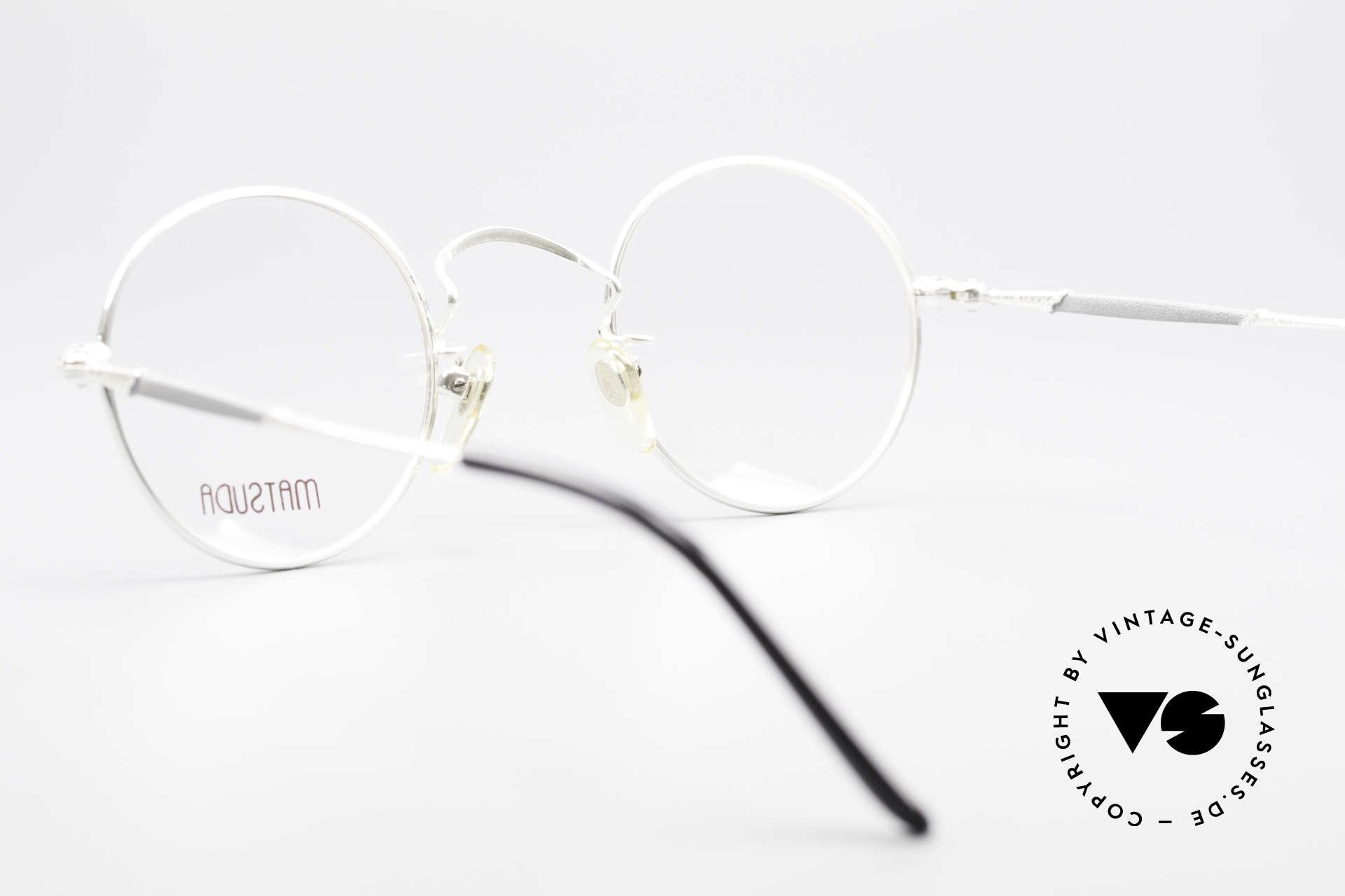 Matsuda 2872 90er Designer Brille Rund, KEINE RETROmode, sondern ein 25 Jahre altes ORIGINAL, Passend für Herren und Damen