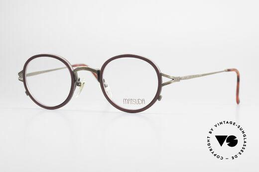 Matsuda 2835 Runde 90er Luxus Brille Details