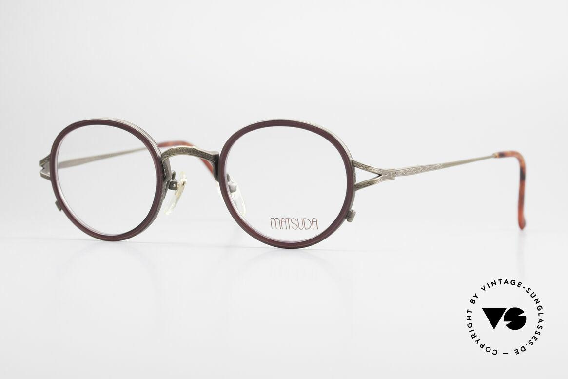 Matsuda 2835 Runde 90er Luxus Brille, 90er Jahre vintage Designer-Sonnenbrille von MATSUDA, Passend für Herren und Damen