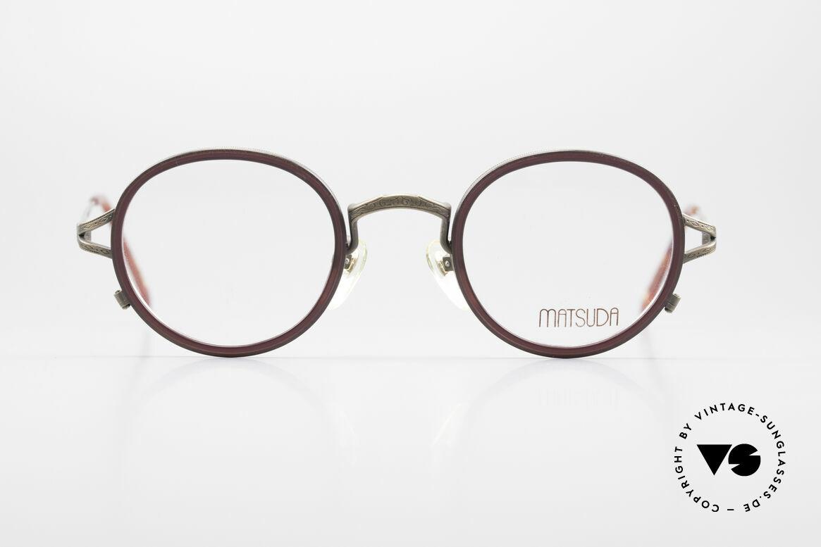 Matsuda 2835 Runde 90er Luxus Brille, MATSUDA: ein Synonym für aufwändige Handwerkskunst, Passend für Herren und Damen
