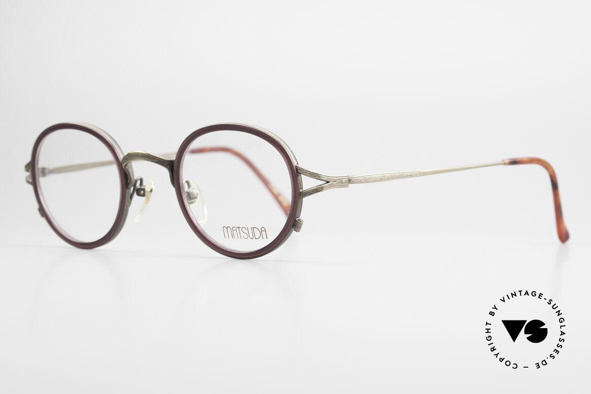 Matsuda 2835 Runde 90er Luxus Brille, unter Kennern längst geschätzt & entsprechend begehrt, Passend für Herren und Damen