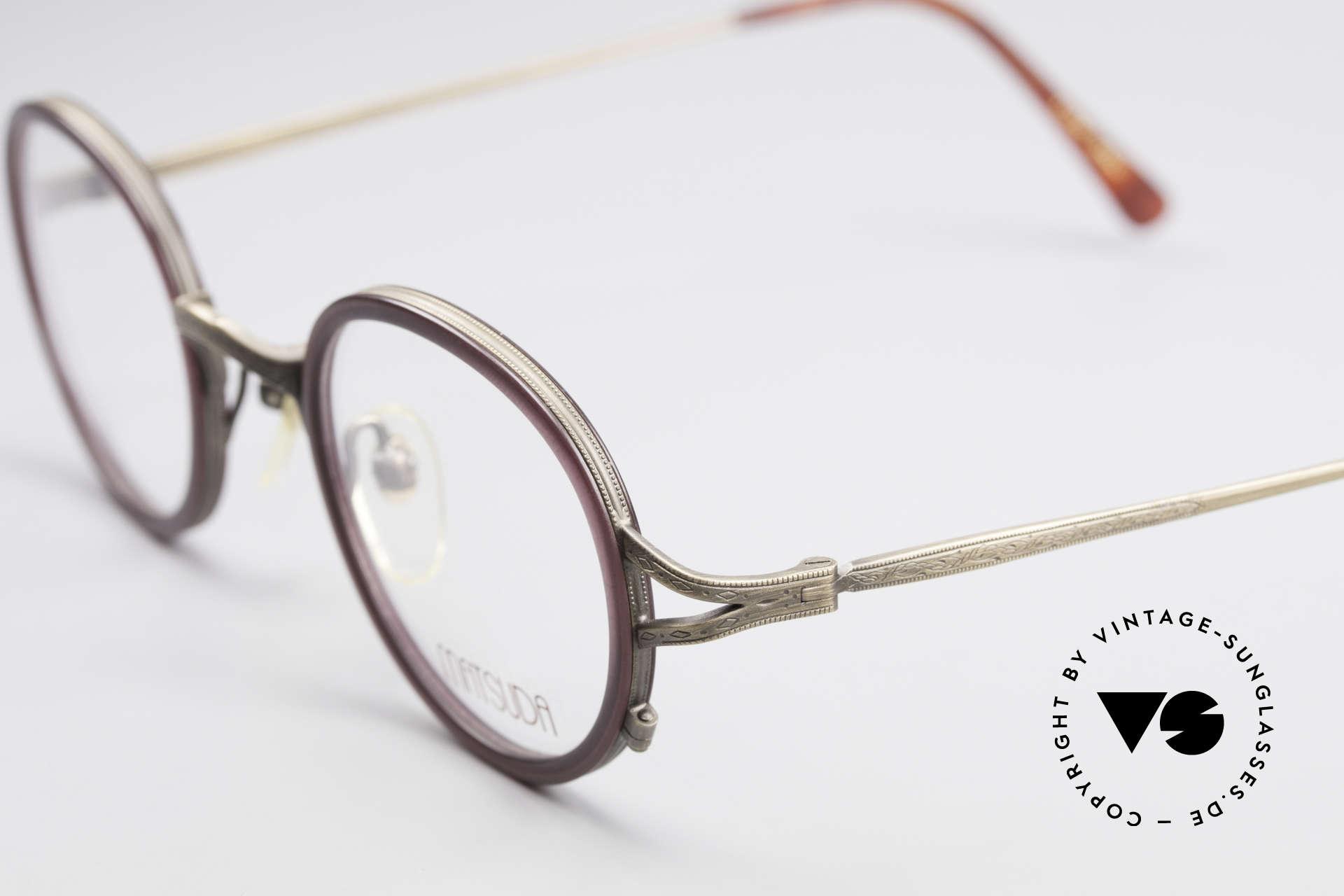 Matsuda 2835 Runde 90er Luxus Brille, komplette vintage Fassung mit sehr viel Liebe zum Detail, Passend für Herren und Damen