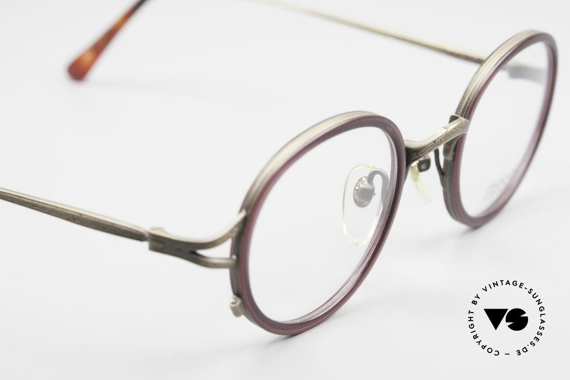 Matsuda 2835 Runde 90er Luxus Brille, ungetragenes EINZELSTÜCK für alle Qualitäts-Liebhaber, Passend für Herren und Damen