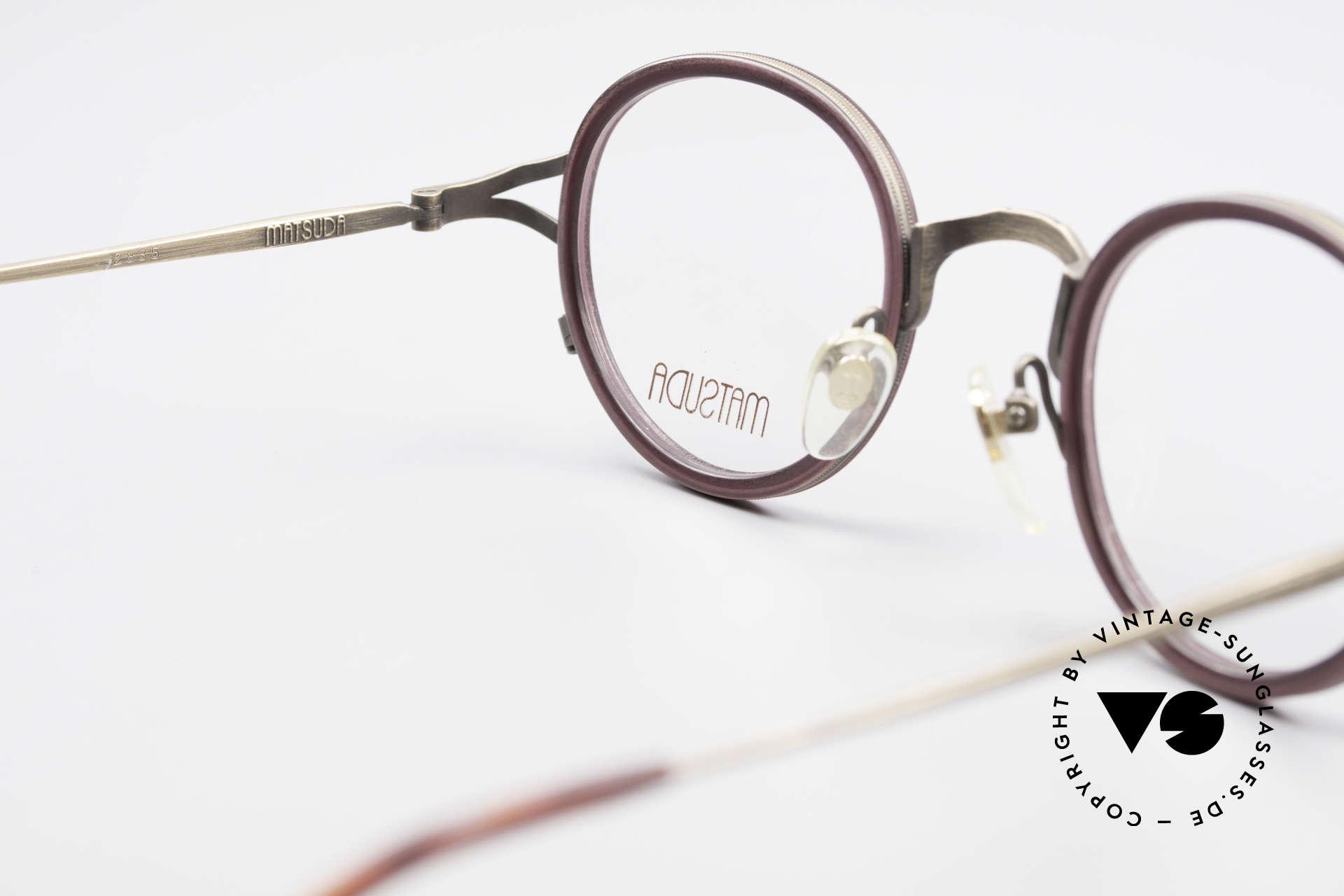 Matsuda 2835 Runde 90er Luxus Brille, KEINE Retromode, sondern ein 25 Jahre altes ORIGINAL!, Passend für Herren und Damen