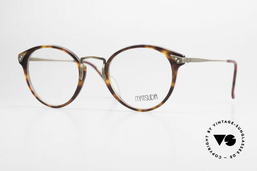 Matsuda 2805 Vintage Brille Panto Style Details
