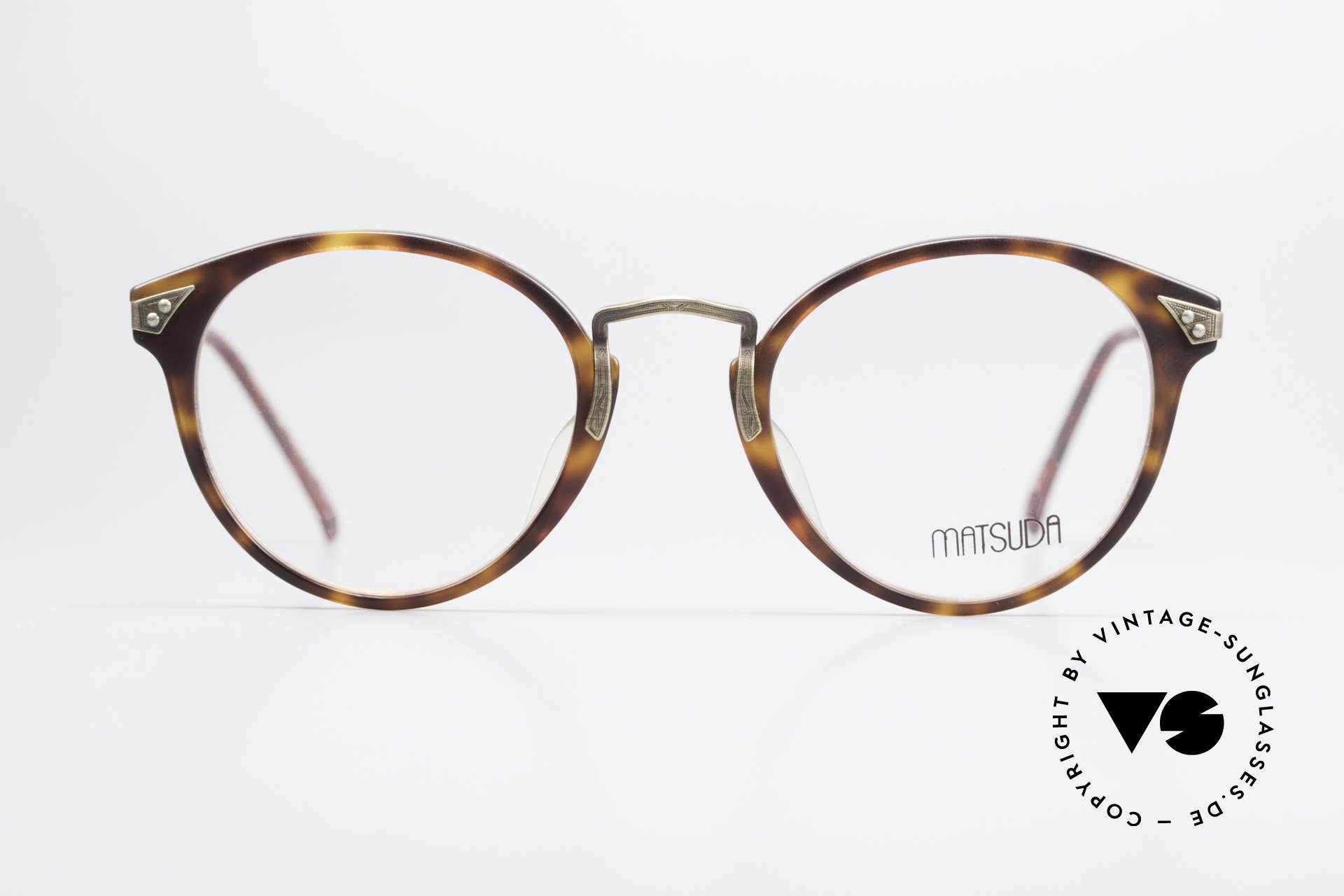 Matsuda 2805 Vintage Brille Panto Style, 1A-Qualität ist hier eine Selbstverständlichkeit, Passend für Herren und Damen