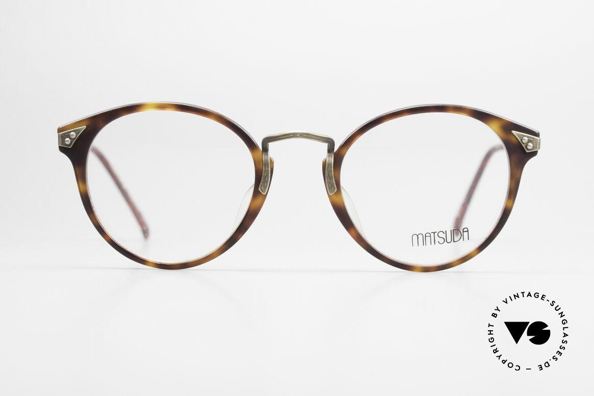 Matsuda 2805 Vintage Brille Panto Style, vintage Matsuda Brillenfassung aus den 1990ern, Passend für Herren und Damen