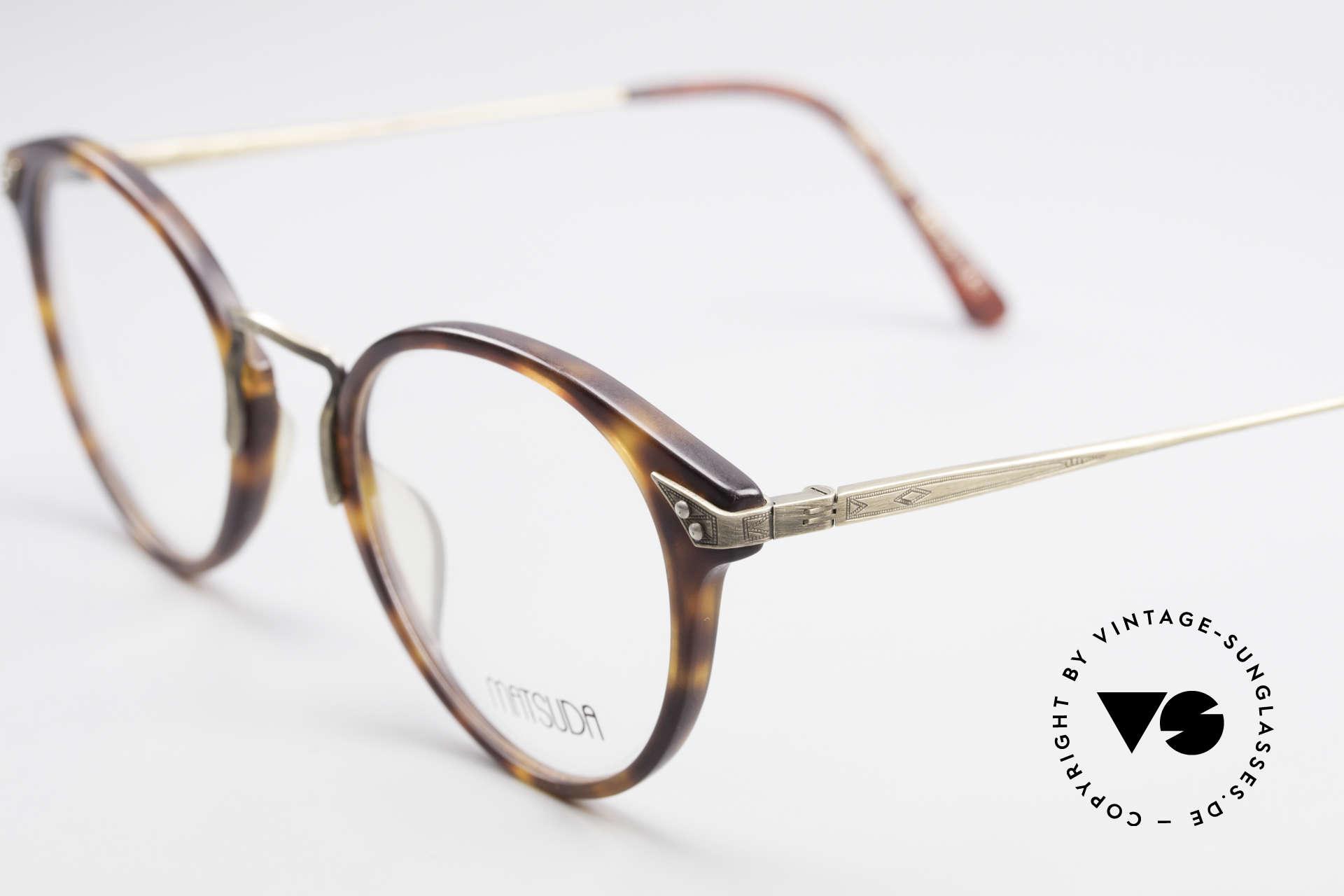 Matsuda 2805 Vintage Brille Panto Style, zudem zeitlos klassisch in Farbe & Form (Panto), Passend für Herren und Damen