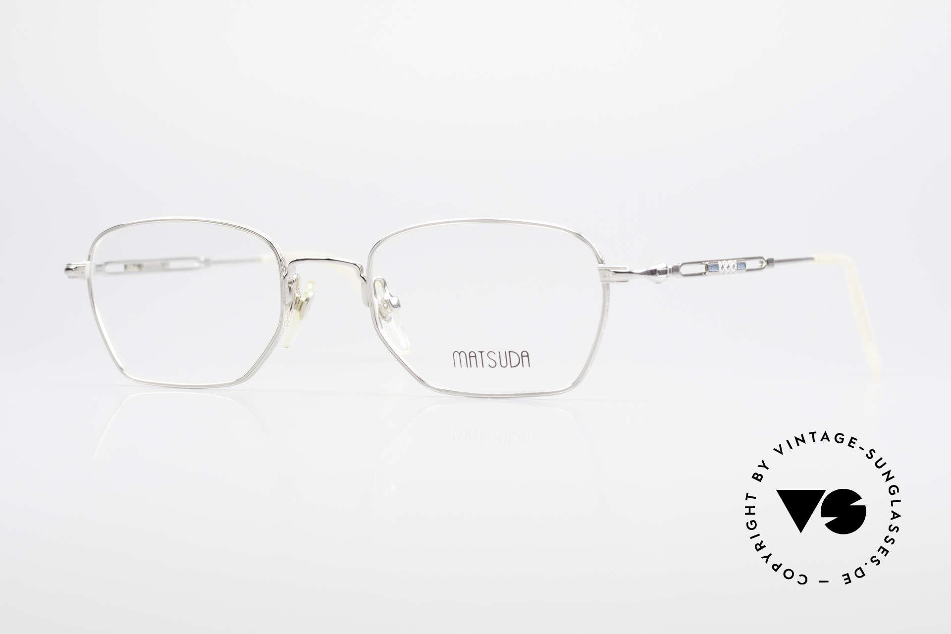 Matsuda 2882 Vintage Brillenfassung Eckig, vintage Matsuda Brillenfassung aus den 1990ern, Passend für Herren