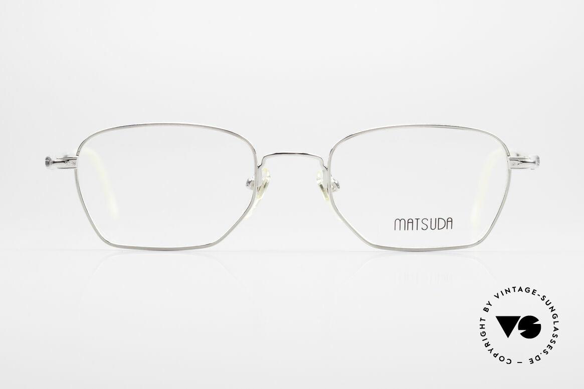 Matsuda 2882 Vintage Brillenfassung Eckig, echte Spitzen-Qualität sämtlicher Komponenten, Passend für Herren