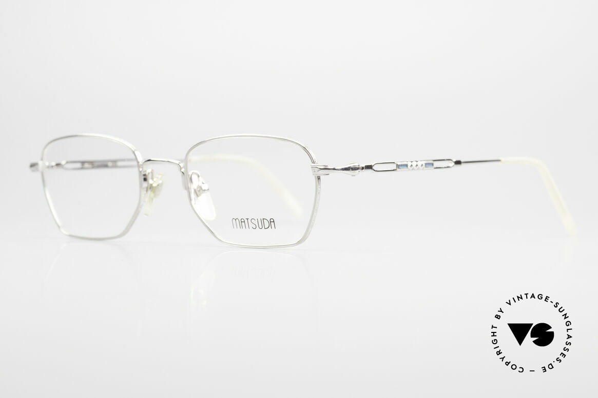 Matsuda 2882 Vintage Brillenfassung Eckig, die komplette Fassung mit aufwändigen Gravuren, Passend für Herren
