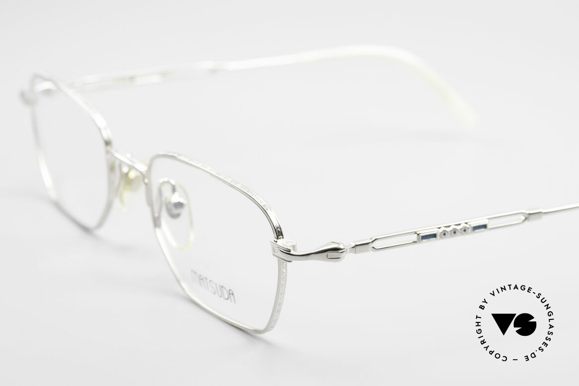 Matsuda 2882 Vintage Brillenfassung Eckig, zudem zeitlos klassisch in Farbe und Form (eckig), Passend für Herren