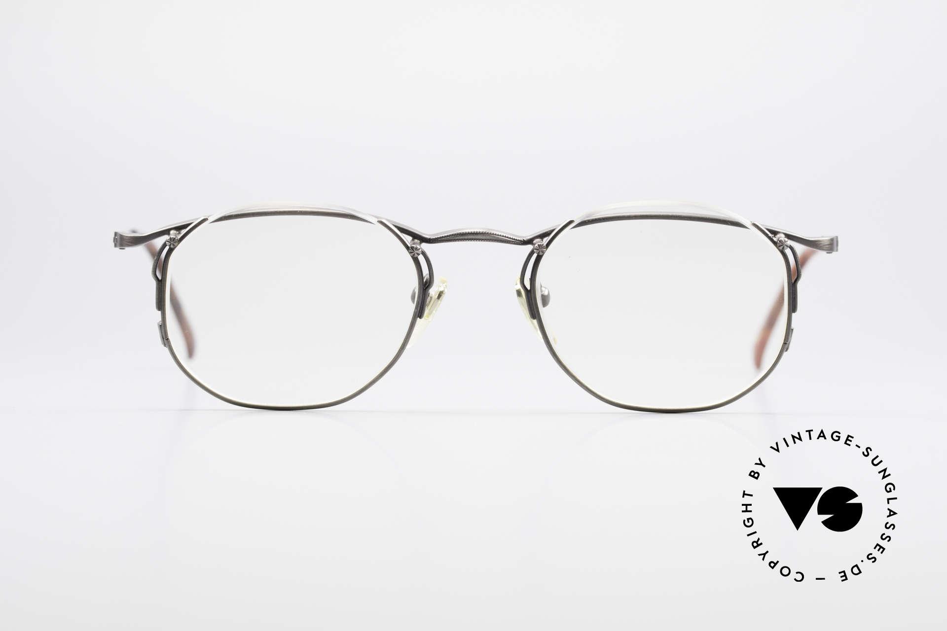 Matsuda 2856 Außergewöhnliche 90er Brille, wirklich außergewöhnliche Rahmenkonstruktion, Passend für Herren und Damen