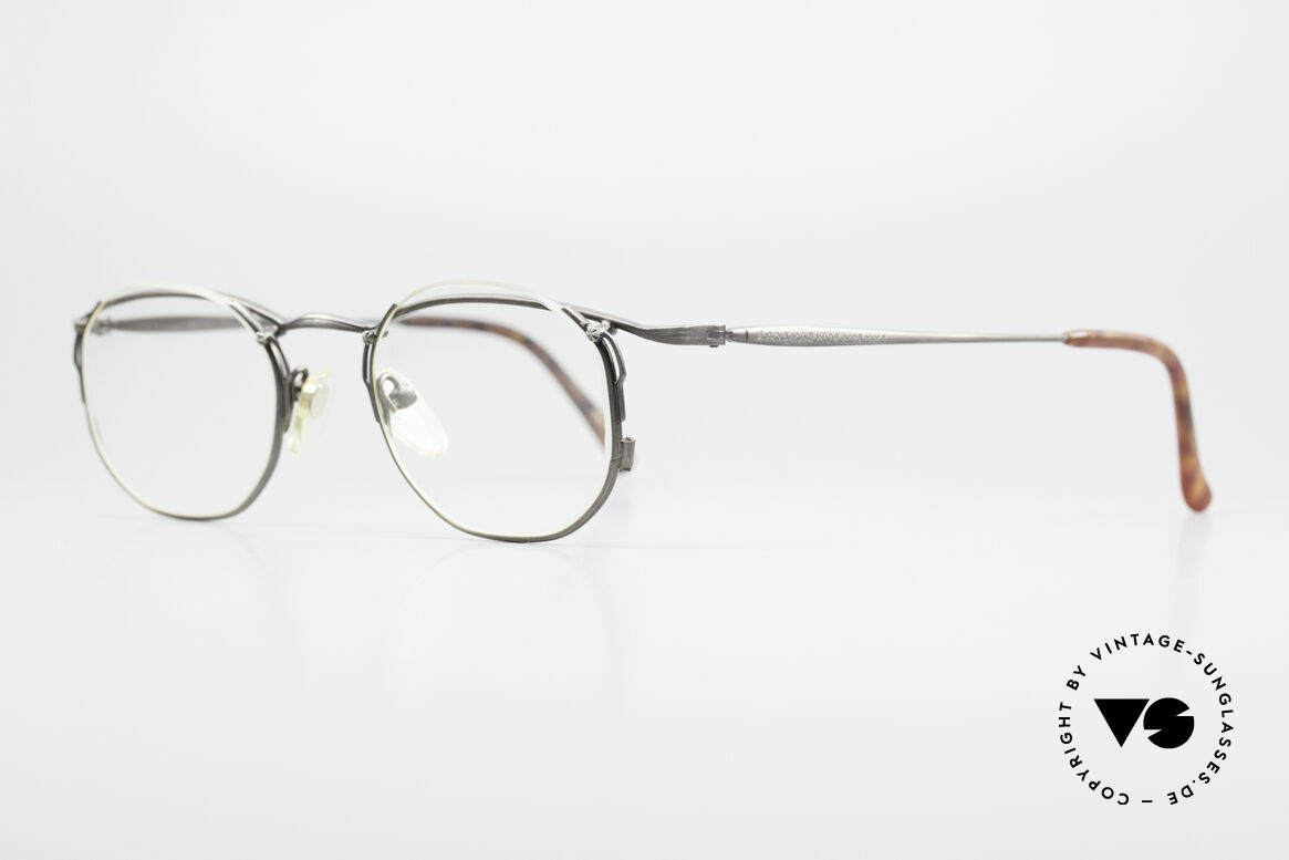 """Matsuda 2856 Außergewöhnliche 90er Brille, die DEMO-Gläser sind """"halb-randlos"""" eingefasst, Passend für Herren und Damen"""