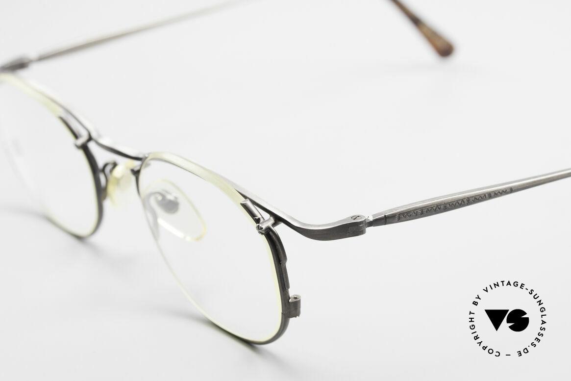 Matsuda 2856 Außergewöhnliche 90er Brille, zudem zahlreiche Gravuren (typisch für Matsuda), Passend für Herren und Damen
