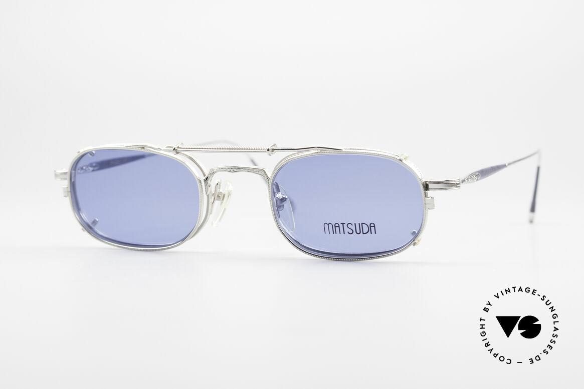 Matsuda 10108 Steampunk Sonnenbrille 90er, vintage Matsuda Sonnenbrille aus den frühen 1990ern, Passend für Herren