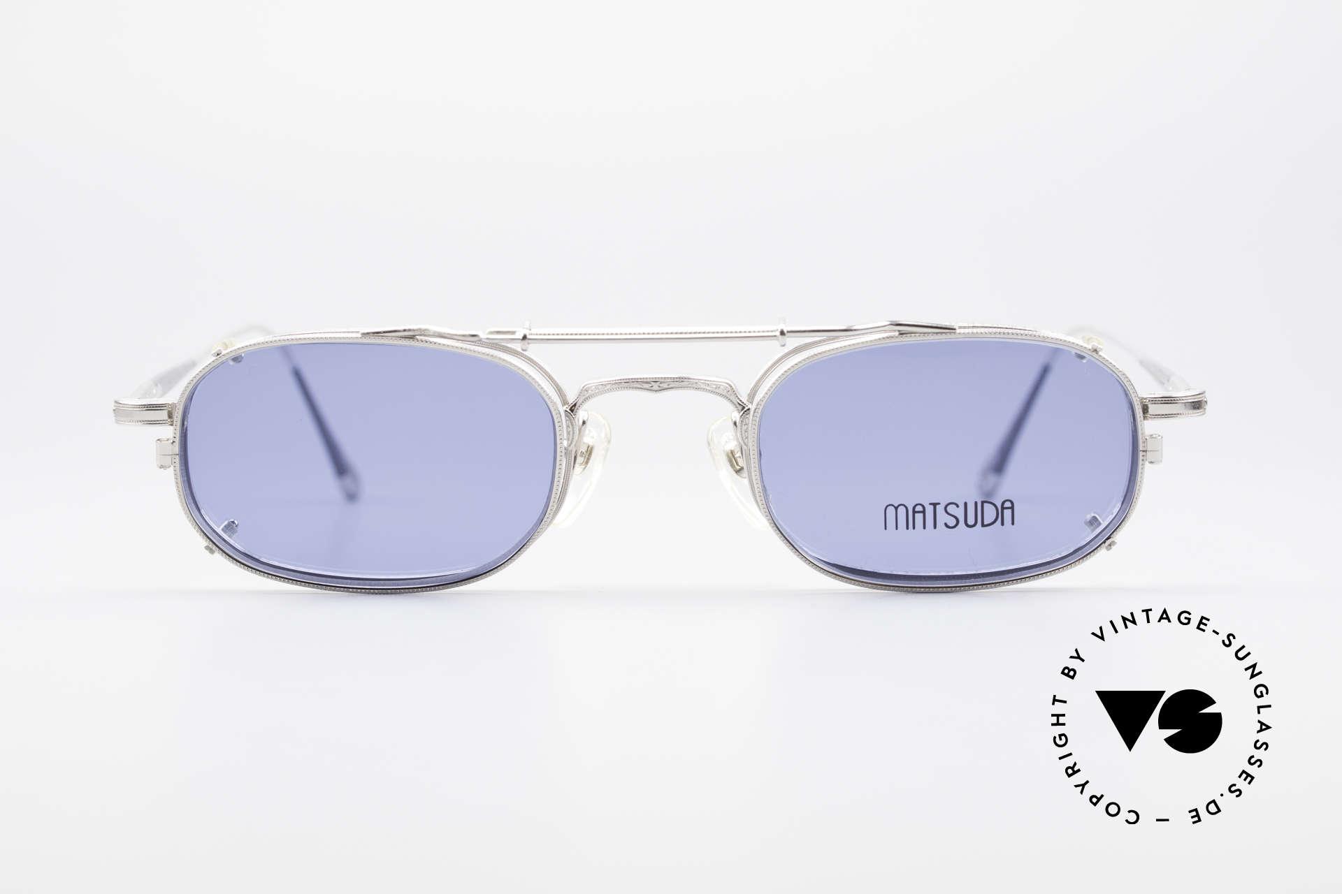 Matsuda 10108 Steampunk Sonnenbrille 90er, 'Steampunk-Sonnenbrille' der jap. 'Design-Manufaktur', Passend für Herren