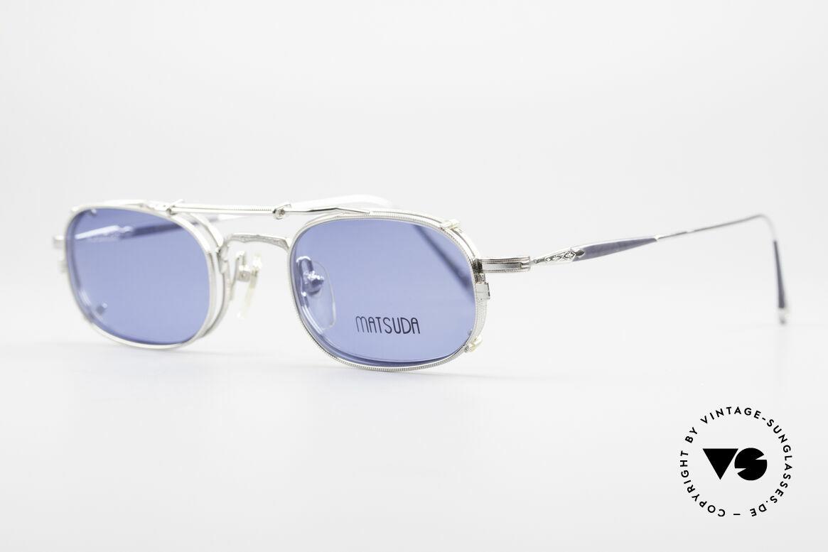 """Matsuda 10108 Steampunk Sonnenbrille 90er, viele interessante Rahmendetails im """"Retro-Futurismus"""", Passend für Herren"""