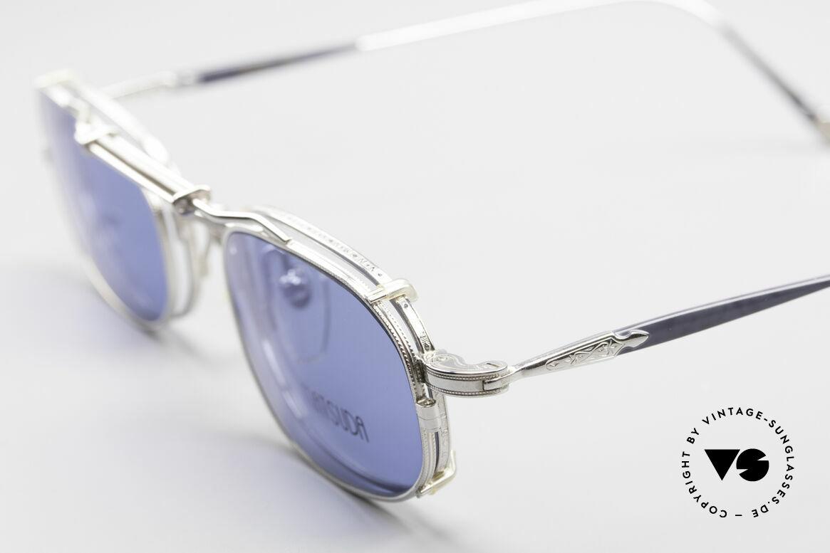 Matsuda 10108 Steampunk Sonnenbrille 90er, also einer Sicht auf die Zukunft, aus einer früheren Zeit, Passend für Herren