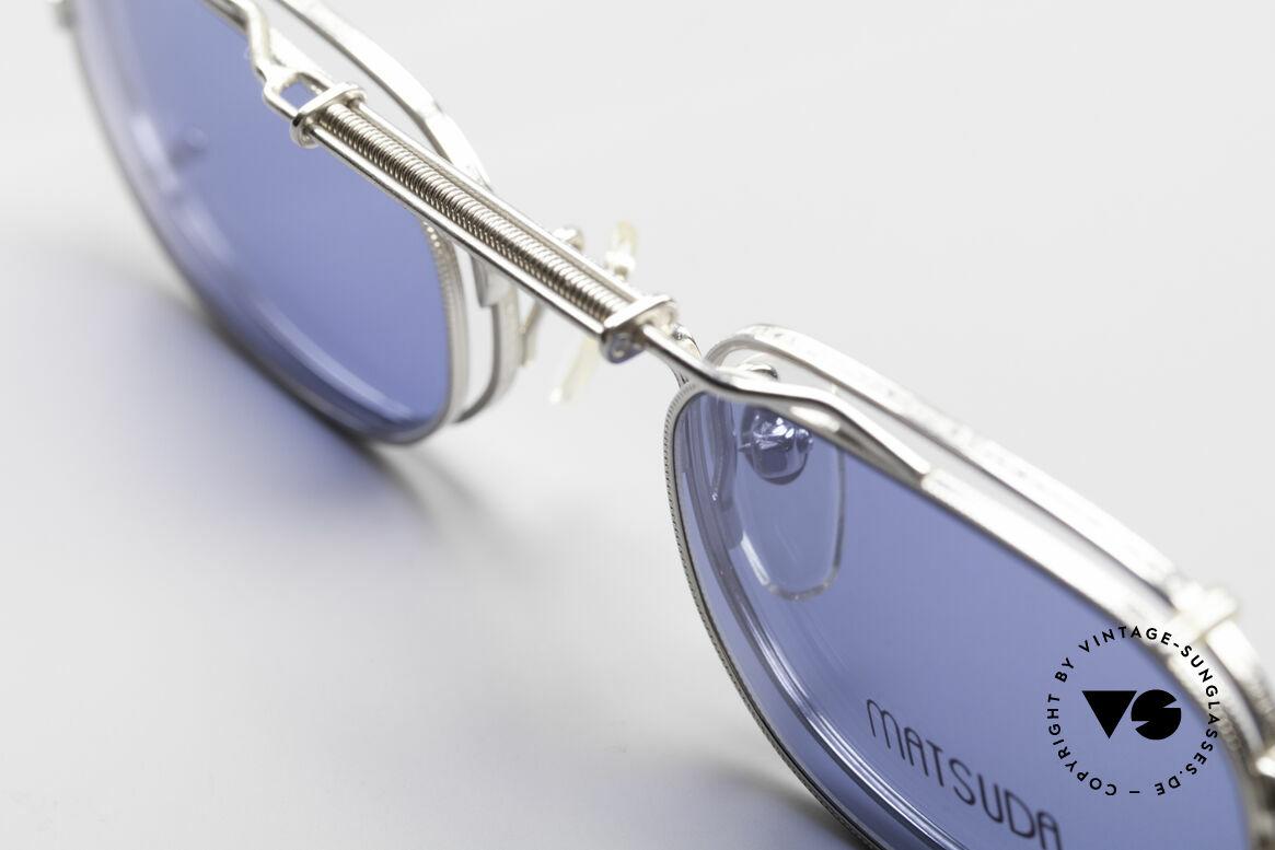 Matsuda 10108 Steampunk Sonnenbrille 90er, passend dazu trug Sarah Connor eine MATSUDA Brille, Passend für Herren