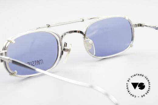 Matsuda 10108 Steampunk Sonnenbrille 90er, ungetragenes Einzelstück für Kunst- u. Modeliebhaber, Passend für Herren