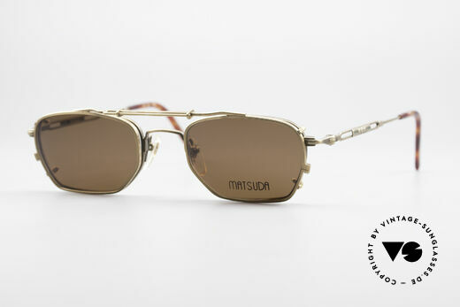 Matsuda 2882 Vintage Brille mit Sonnenclip Details