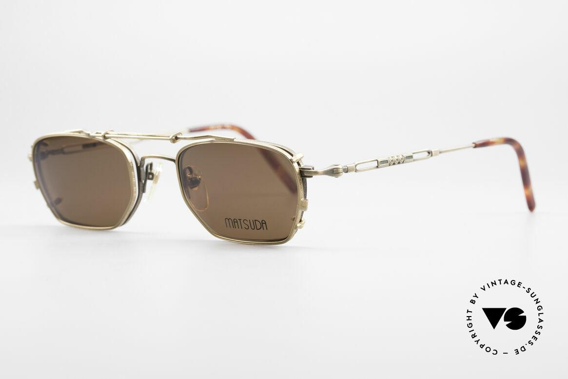 Matsuda 2882 Vintage Brille mit Sonnenclip