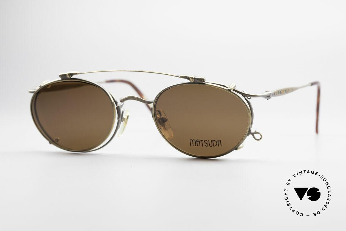Matsuda 2853 Steampunk Vintage Brille, vintage Matsuda Sonnenbrille aus den frühen 1990ern, Passend für Herren