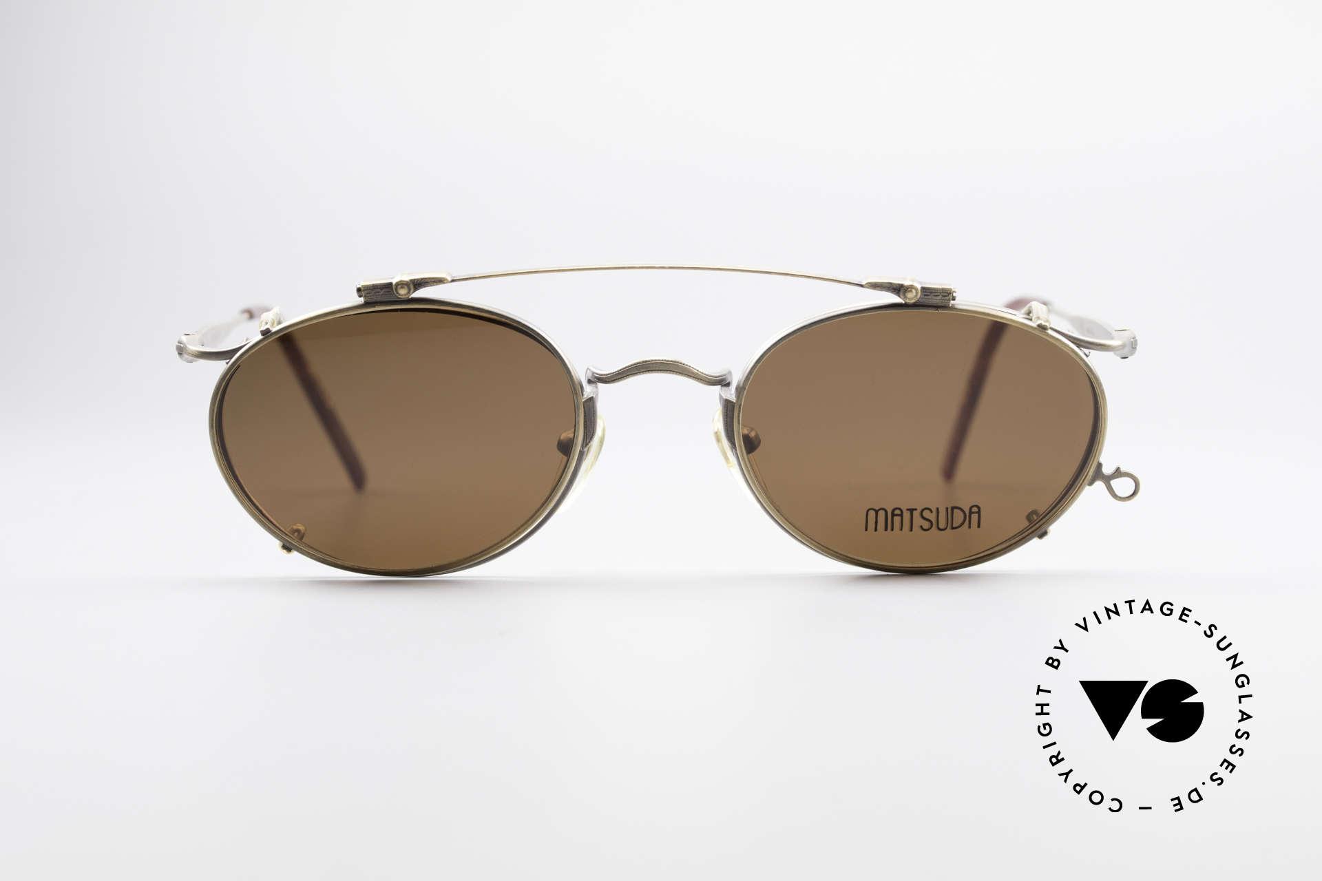 Matsuda 2853 Steampunk Vintage Brille, 'Steampunk-Sonnenbrille' der jap. 'Design-Manufaktur', Passend für Herren