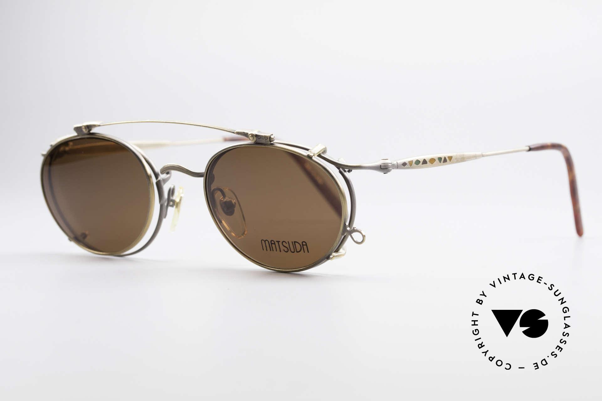 """Matsuda 2853 Steampunk Vintage Brille, viele interessante Rahmendetails im """"Retro-Futurismus"""", Passend für Herren"""